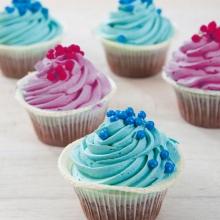 Blauwe en roze Cupcakes