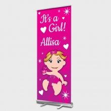 Baby Girl Roll up Banner