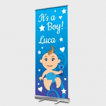 Baby Boy Roll up Banner