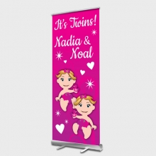 Twin Girls Rollup banner