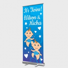 Twin Boys Rollup banner