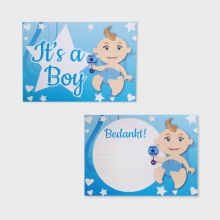 It's a Boy bedankkaartjes