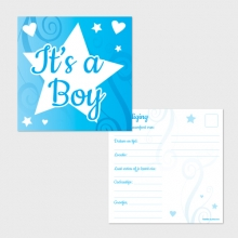It's a Boy uitnodigingen