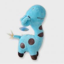 Blauwe knuffel giraffe