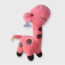Roze knuffel giraffe