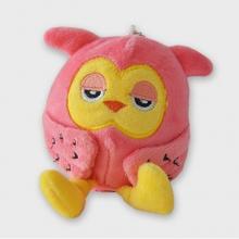 Roze knuffel uil
